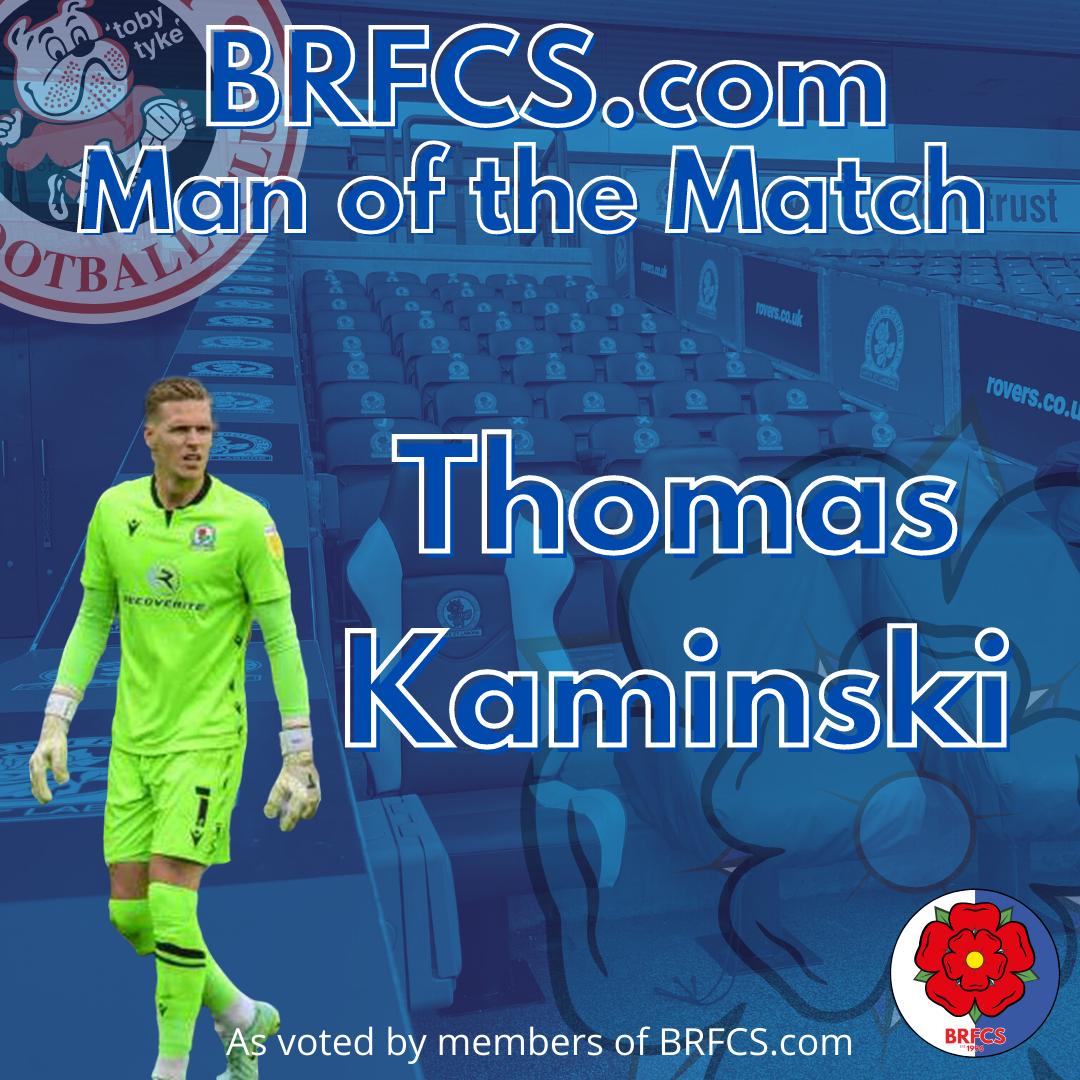Thomas Kaminski, Man of the Match vs Barnsley away